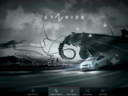 GT RIDE – Viral Gaming für Kia – Tablet App
