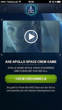 Axe Apollo – Engagement-Kampagne – Smartphone